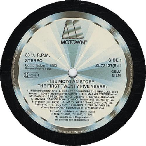 Tamla Motown The Motown Story The First Twenty Five
