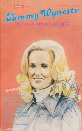 Tammy Wynette 20 Country Classics - Autographed cassette album UK TAMCLCO717695