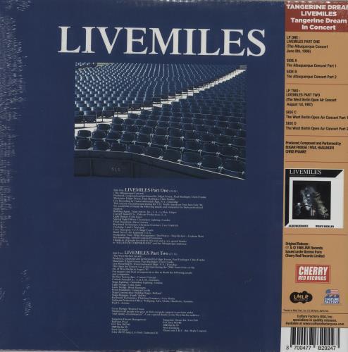 Tangerine Dream Livemiles (Tangerine Dream In Concert) - Blue vinyl 2-LP vinyl record set (Double Album) US TAN2LLI760805