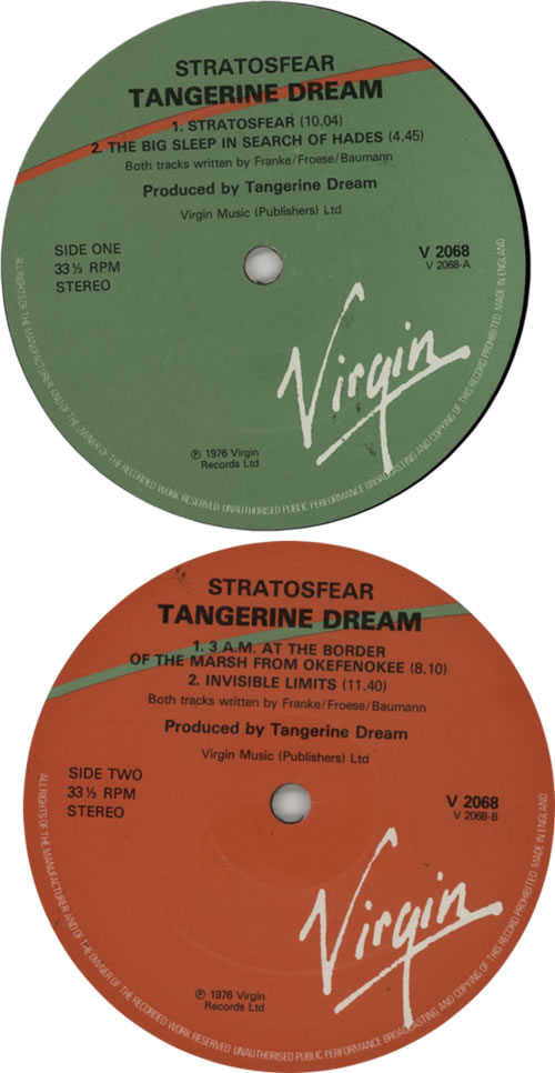 Tangerine Dream Stratosfear - 2nd UK vinyl LP album (LP