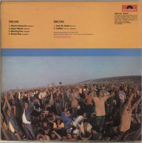 Taste Live At The Isle Of Wight vinyl LP album (LP record) UK TTELPLI125697