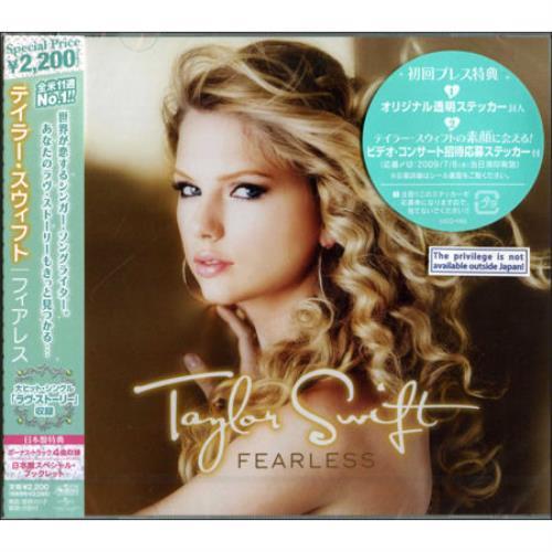 Taylor Swift Fearless Japanese Promo Cd Album Cdlp 485715