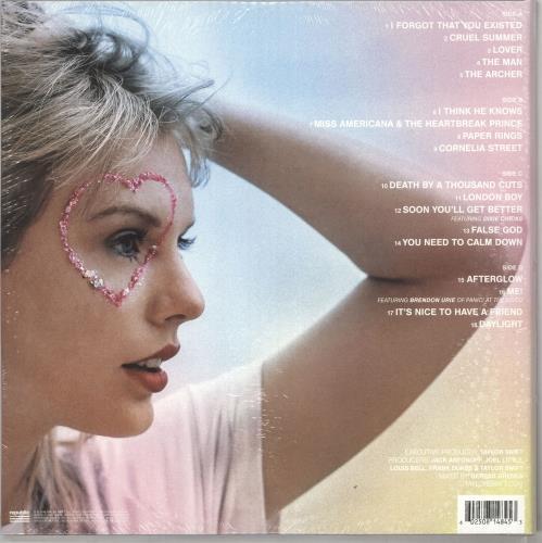 Taylor Swift Lover - Pink & Blue Vinyl - Sealed 2-LP vinyl record set (Double Album) UK T502LLO733821