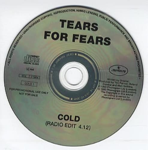 """Tears For Fears Cold CD single (CD5 / 5"""") UK TFFC5CO311260"""