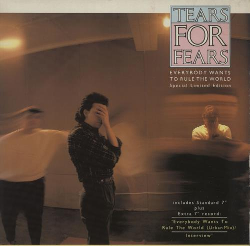 "Tears For Fears Everybody Wants To Rule The World 7"" vinyl single (7 inch record) UK TFF07EV16722"