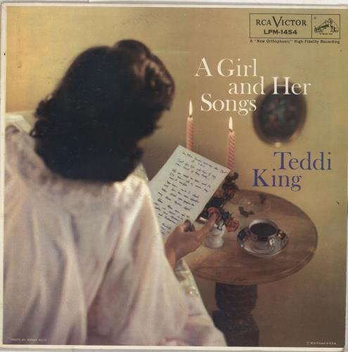 Teddi King A Girl And Her Songs vinyl LP album (LP record) US UFDLPAG712069