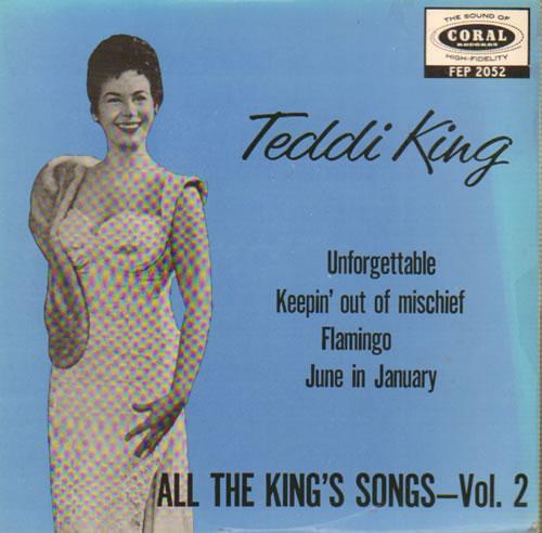 "Teddi King All The King's Songs Vol. 2 7"" vinyl single (7 inch record) UK UFD07AL641845"