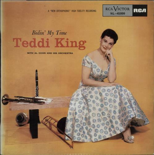 Teddi King Bidin' My Time vinyl LP album (LP record) Spanish UFDLPBI677111
