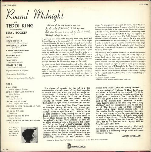 Teddi King 'Round Midnight vinyl LP album (LP record) Japanese UFDLPRO699628