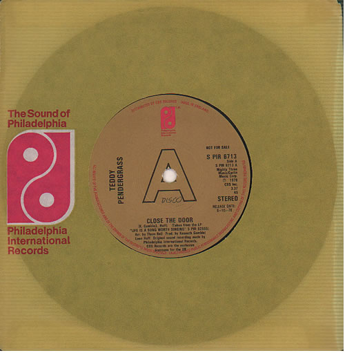 """Teddy Pendergrass Close The Door - A Label 7"""" vinyl single (7 inch record) UK PNG07CL636905"""
