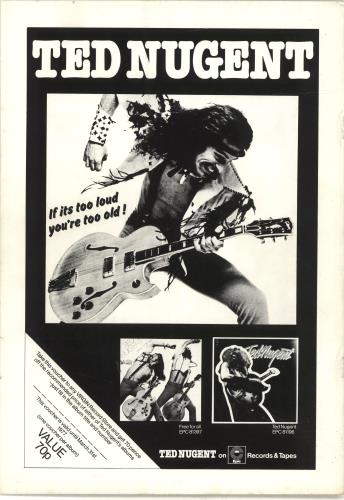 Ted Nugent European Tour '77 tour programme UK TEDTREU345679