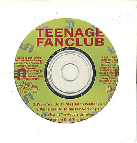 """Teenage Fanclub What You Do To Me CD single (CD5 / 5"""") US TFCC5WH05025"""