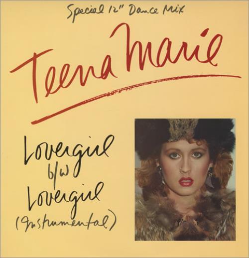 "Teena Marie Lovergirl 12"" vinyl single (12 inch record / Maxi-single) US TF712LO430223"