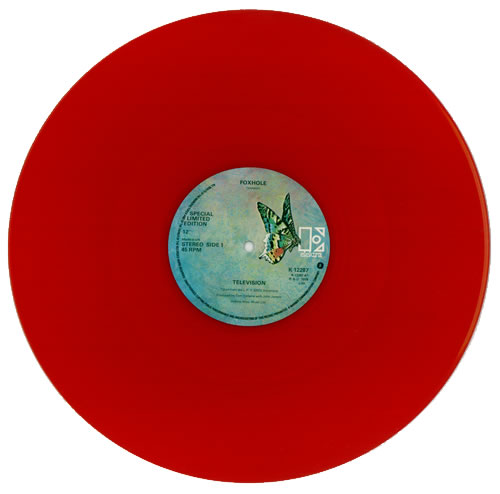 "Television Foxhole - yellow sleeve 12"" vinyl single (12 inch record / Maxi-single) UK TLV12FO170310"