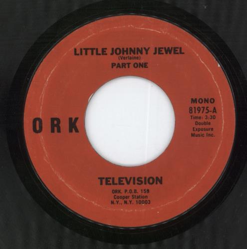 "Television Little Johnny Jewel 7"" vinyl single (7 inch record) US TLV07LI597970"