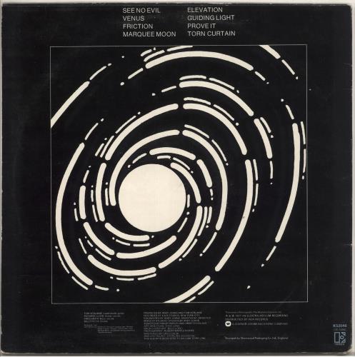 Television Marquee Moon - 1st - EX vinyl LP album (LP record) UK TLVLPMA595327