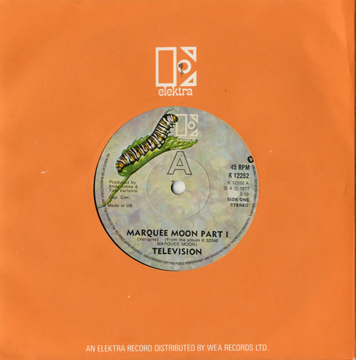 """Television Marquee Moon 7"""" vinyl single (7 inch record) UK TLV07MA336174"""