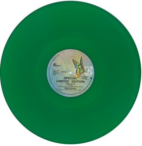 "Television Prove It - Green Vinyl 12"" vinyl single (12 inch record / Maxi-single) UK TLV12PR129026"