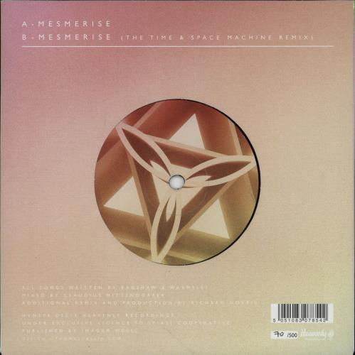 """Temples Mesmerise - Numbered Sleeve 7"""" vinyl single (7 inch record) UK XGO07ME682445"""