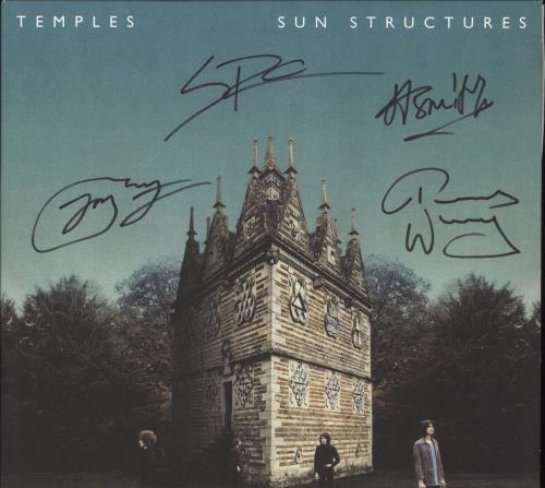 Temples Sun Structures - Autographed vinyl LP album (LP record) US XGOLPSU707084