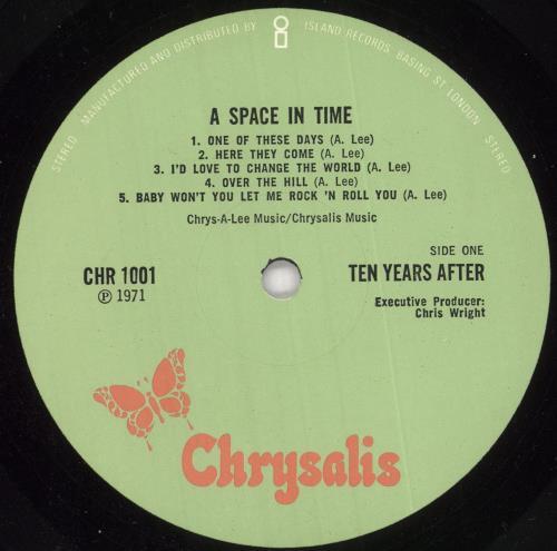 Ten Years After A Space In Time - 1st - EX vinyl LP album (LP record) UK TYALPAS732118
