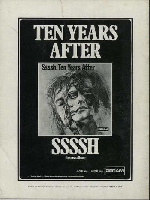 Ten Years After Chrysalis Presents tour programme UK TYATRCH582188