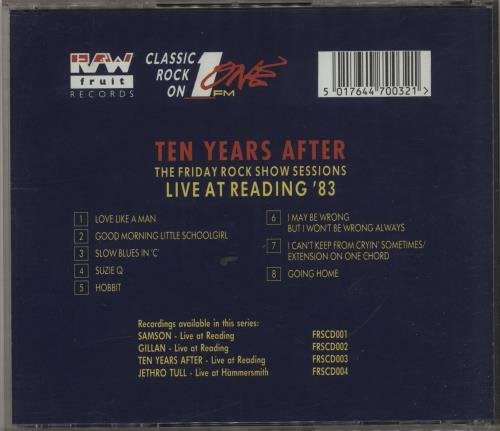 Ten Years After Live At Reading '83 - The Friday Rock Show Sessions CD album (CDLP) UK TYACDLI684058