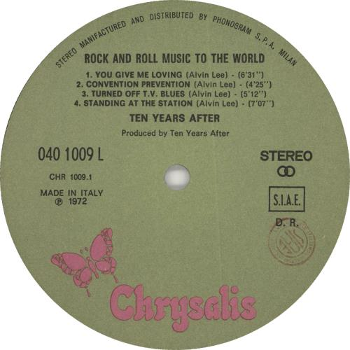 Ten Years After Rock And Roll Music To The World vinyl LP album (LP record) Italian TYALPRO727116