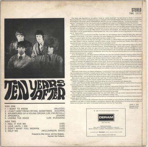 Ten Years After Ten Years After - 1st - VG+ vinyl LP album (LP record) UK TYALPTE710482