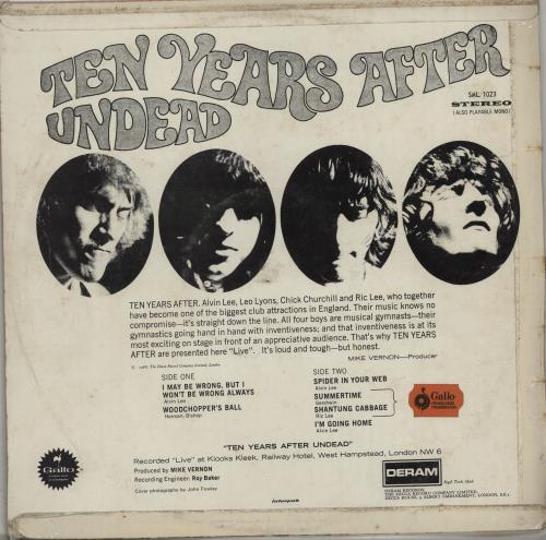 Ten Years After Undead vinyl LP album (LP record) South African TYALPUN667356