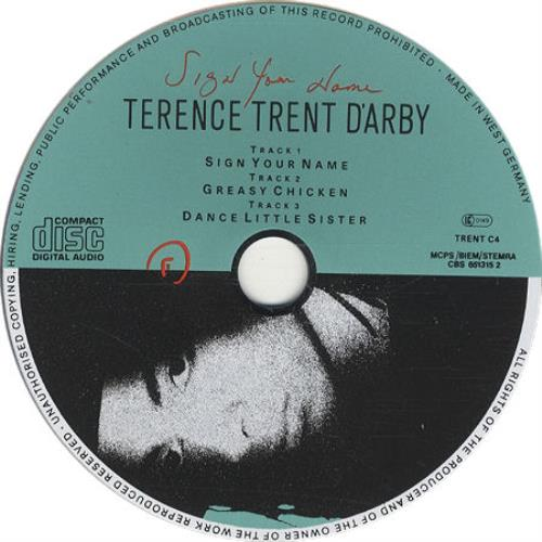 "Terence Trent D'Arby Sign Your Name CD single (CD5 / 5"") UK TTDC5SI50303"