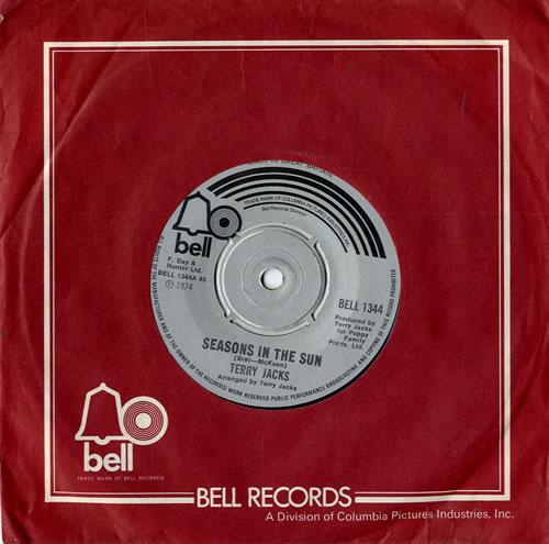 "Terry Jacks Seasons In The Sun 7"" vinyl single (7 inch record) UK TJ-07SE553774"