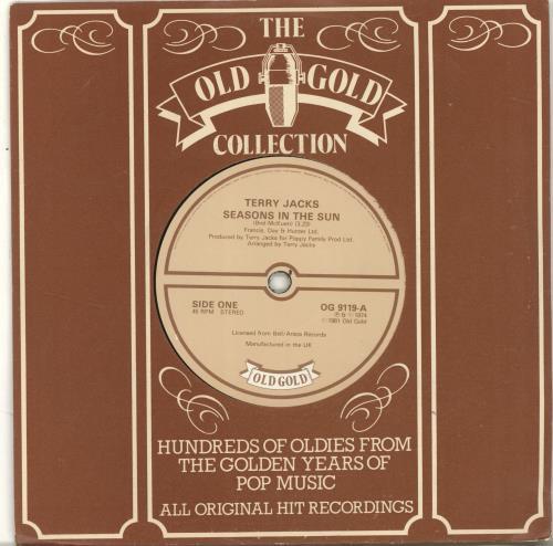 "Terry Jacks Seasons In The Sun 7"" vinyl single (7 inch record) UK TJ-07SE701283"