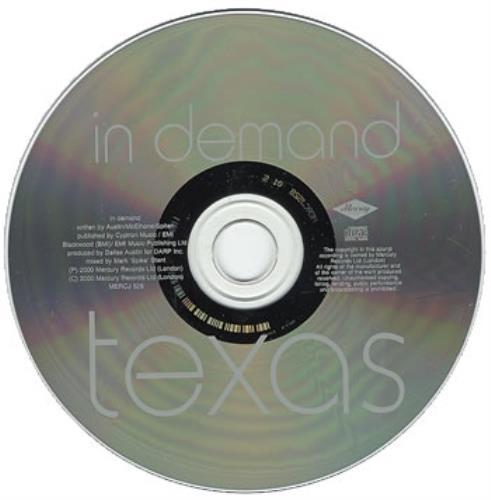 "Texas In Demand CD single (CD5 / 5"") UK TEXC5IN164825"