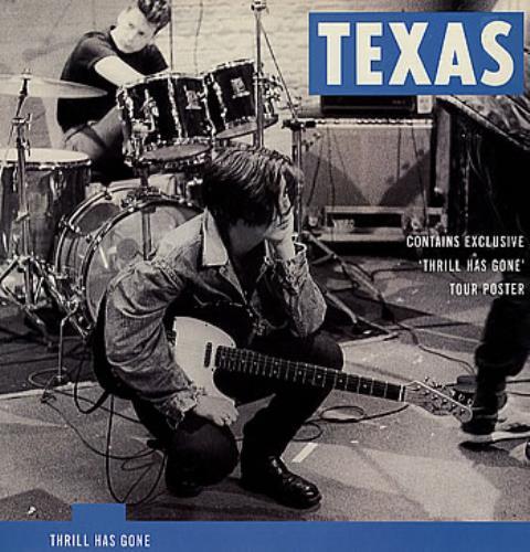 "Texas Thrill Has Gone + Poster 12"" vinyl single (12 inch record / Maxi-single) UK TEX12TH05798"