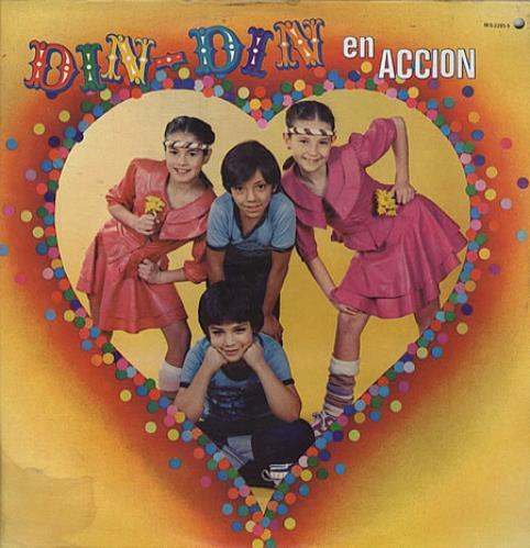 Thalia Din-Din En Accion vinyl LP album (LP record) Mexican T-ILPDI334256