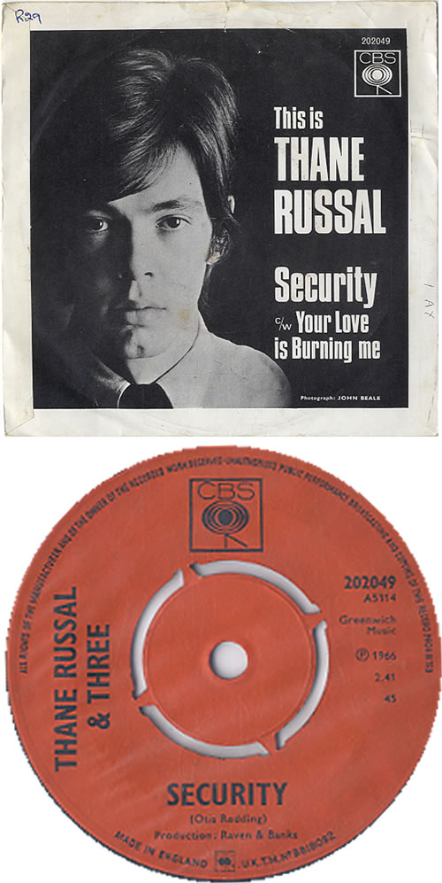 """Thane Russal This Is Thane Russal - Security + p/s 7"""" vinyl single (7 inch record) UK W9A07TH627934"""