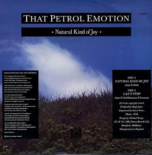 "That Petrol Emotion Natural Kind Of Joy 7"" vinyl single (7 inch record) UK TPE07NA502926"