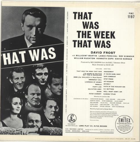 That Was The Week That Was That Was The Week That Was vinyl LP album (LP record) UK WEWLPTH595321