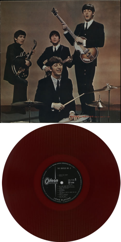 The Beatles Beatles No. 5 - 1st - Red Vinyl vinyl LP album (LP record) Japanese BTLLPBE203013