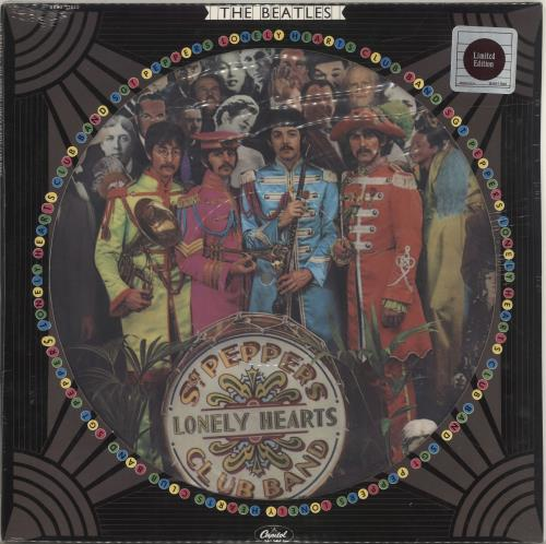 The Beatles Sgt Peppers Lonely Hearts Club Band - Sealed picture disc LP (vinyl picture disc album) US BTLPDSG32663