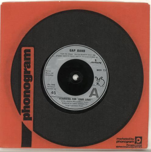 "The Gap Band Yearning For Your Love 7"" vinyl single (7 inch record) UK GAP07YE689168"
