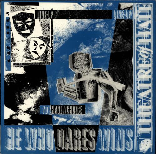 Theatre Of Hate He Who Dares Wins vinyl LP album (LP record) UK TOHLPHE245602