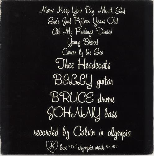 """Thee Headcoats Cavern By The Sea 12"""" vinyl single (12 inch record / Maxi-single) US HDC12CA746319"""
