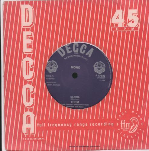 "Them Baby Please Don't Go - Mispressed Labels 7"" vinyl single (7 inch record) UK T-M07BA609708"
