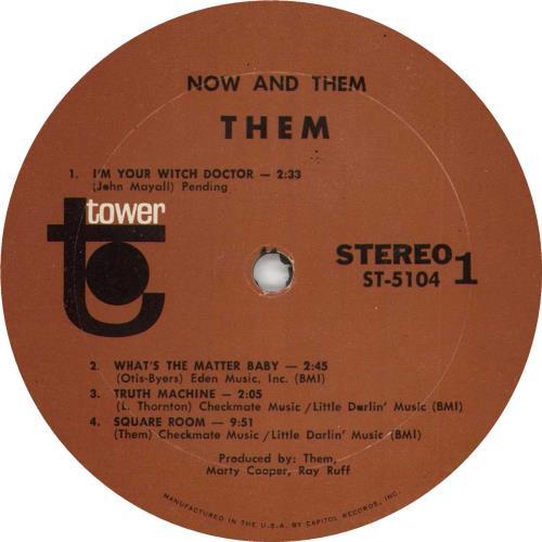"Them Now - And ""Them"" vinyl LP album (LP record) US T-MLPNO737354"