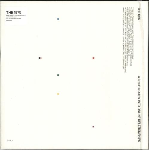 The 1975 A Brief Inquiry Into Online Relationships - Clear Vinyl + Shrinkwrap 2-LP vinyl record set (Double Album) UK W7H2LAB722432