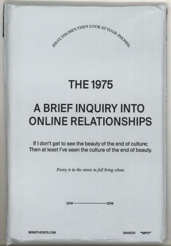 The 1975 A Brief Inquiry Into Online Relationships: Competition Prize Bundle memorabilia UK W7HMMAB719144