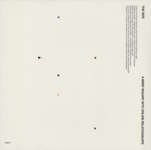 The 1975 A Brief Inquiry Into Online Relationships 2-LP vinyl record set (Double Album) UK W7H2LAB755069