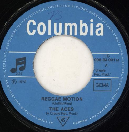 "The Aces (Reggae) Reggae Motion 7"" vinyl single (7 inch record) German 0HU07RE728058"